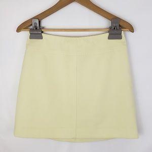 Bebe Wool Blend Pastel Yellow Miniskirt Size 6